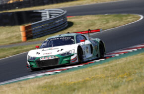 Carrie Schreiner Markus Winkelhock Phoenix Racing Audi R8 LMS GT3 GTC Race Oschersleben