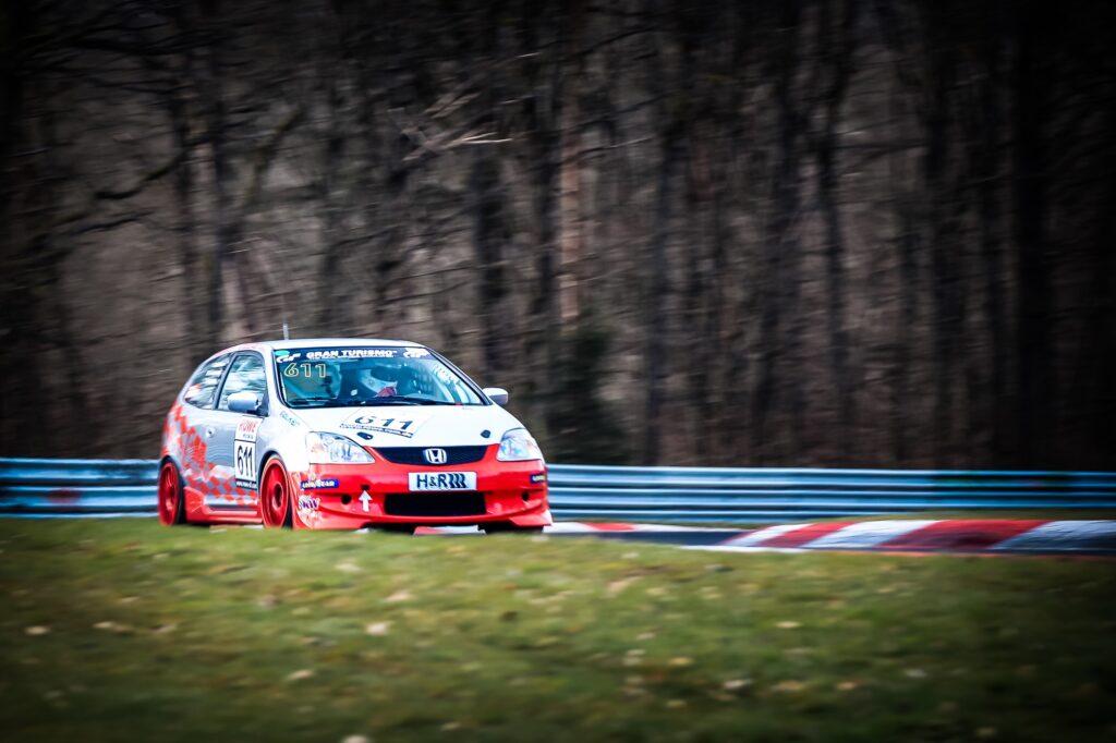 Frank Kuhlmann Mark Giesbrecht Timo Drössinger Honda Civic Type-R Nürburgring Langstrecken-Serie Nürburgring-Nordschleife