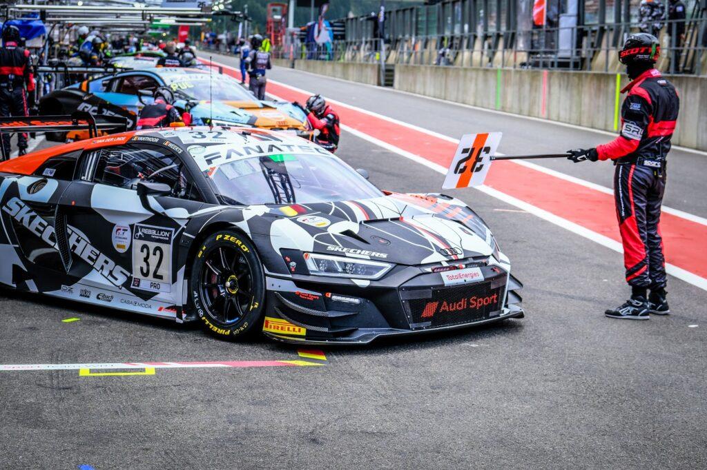 Kelvin van der Linde Dries Vanthoor Charles Weerts Belgian Audi Club Team WRT Audi R8 LMS GT3 GT World Challenge Europe Endurance Cup 24h Spa