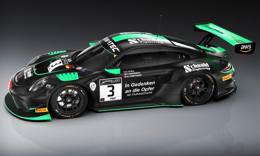 Dennis Olsen Frederic Makowieki Michael Christensen Schnabl Engineering Porsche 911 GT3 R 24h Spa