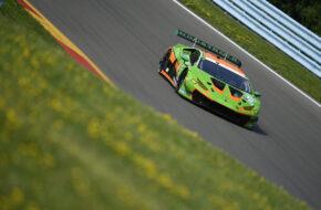 Misha Goikhberg Tim Zimmermann Franck Perera Grasser Racing Team Lamborghini Huracan GT3 IMSA WeatherTech SportsCar Championship Watkins Glen