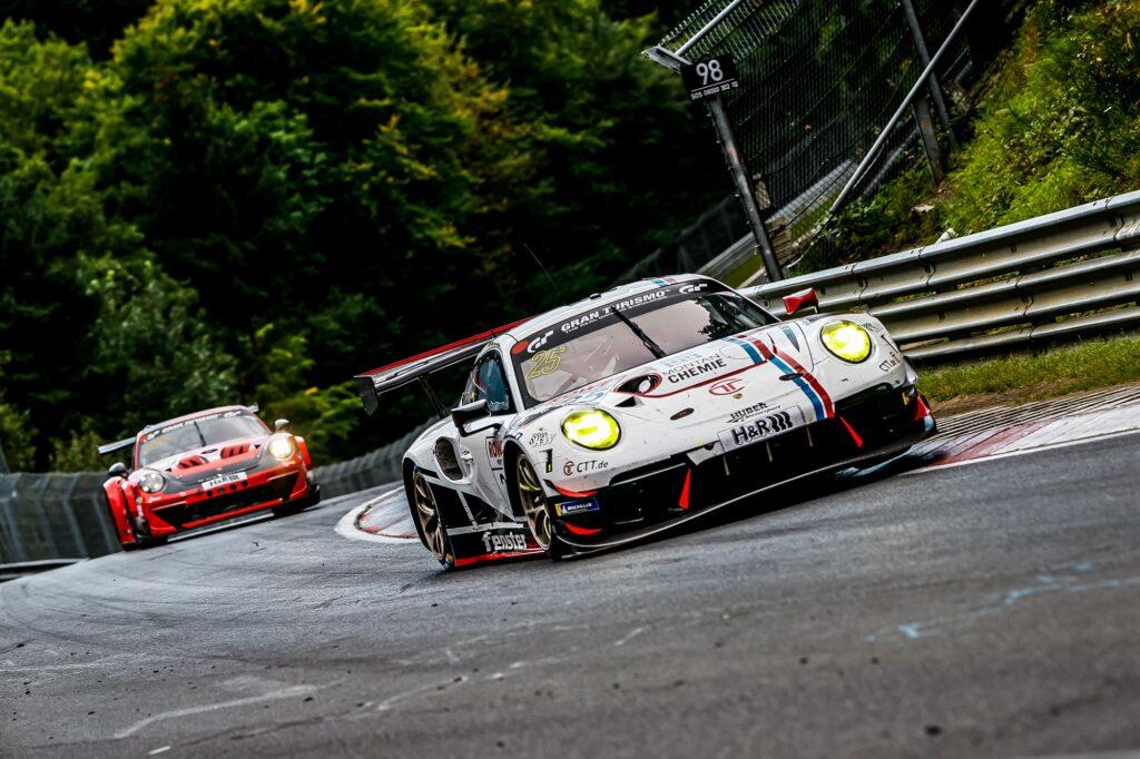 Alexander Mies Achim Thyssen Klaus Rader Huber Motorsport Porsche 911 GT3 R Nürburgring Langstrecken-Serie Nürburgring-Nordschleife