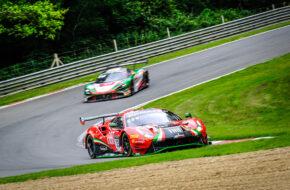 Benjamin Hites Patrick Kujala Rinaldi Racing Ferrari 488 GT3 GT World Challenge Europe Brands Hatch