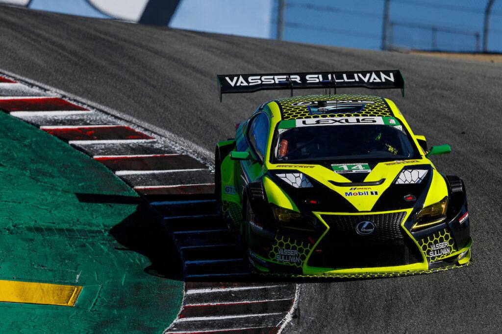 Jack Hawksworth Aaron Telitz Vasser Sullivan Lexus RC F GT3 IMSA WeatherTech SportsCar Championship Laguna Seca