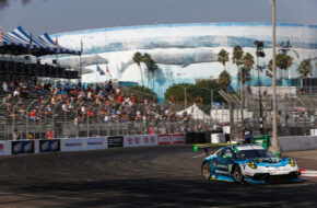 Katherine Legge Rob Ferriol Team Hardpoint Porsche 911 GT3 R IMSA WeatherTech SportsCar Championship Long Beach