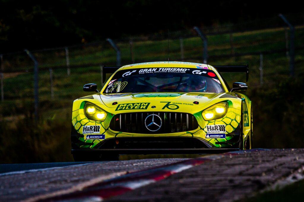 Manuel Metzger Luci Trefz Dirk Müller Mann-Filter Team Landgraf HTP/WWR Mercedes-AMG GT3 Nürburgring Langstrecken-Serie Nürburgring-Nordschleife