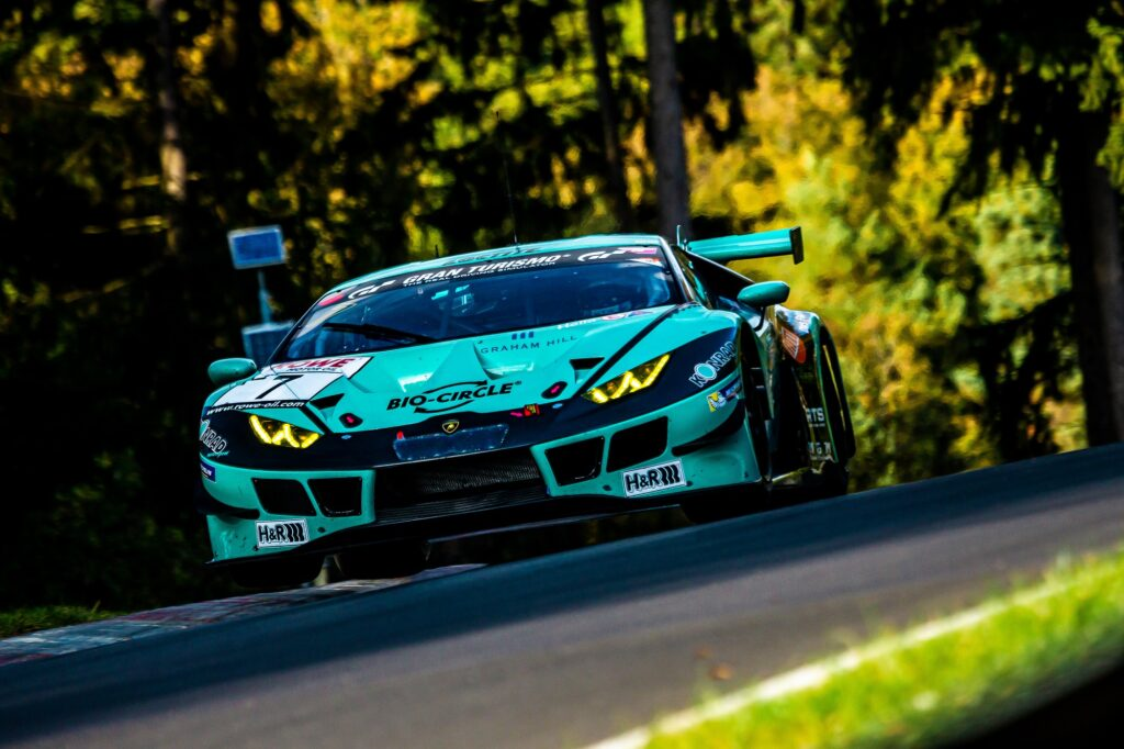 Axcil Jefferies Jordan Pepper Konrad Motorsport Lamborghini Huracan GT3 Nürburgring Langstrecken-Serie Nürburgring-Nordschleife