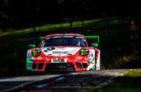 Tobias Müller Felipe Fernandez Laser Klaus Abbelen Frikadelli Racing Porsche 911 GT3 R Nürburgring Langstrecken-Serie Nürburgring-Nordschleife