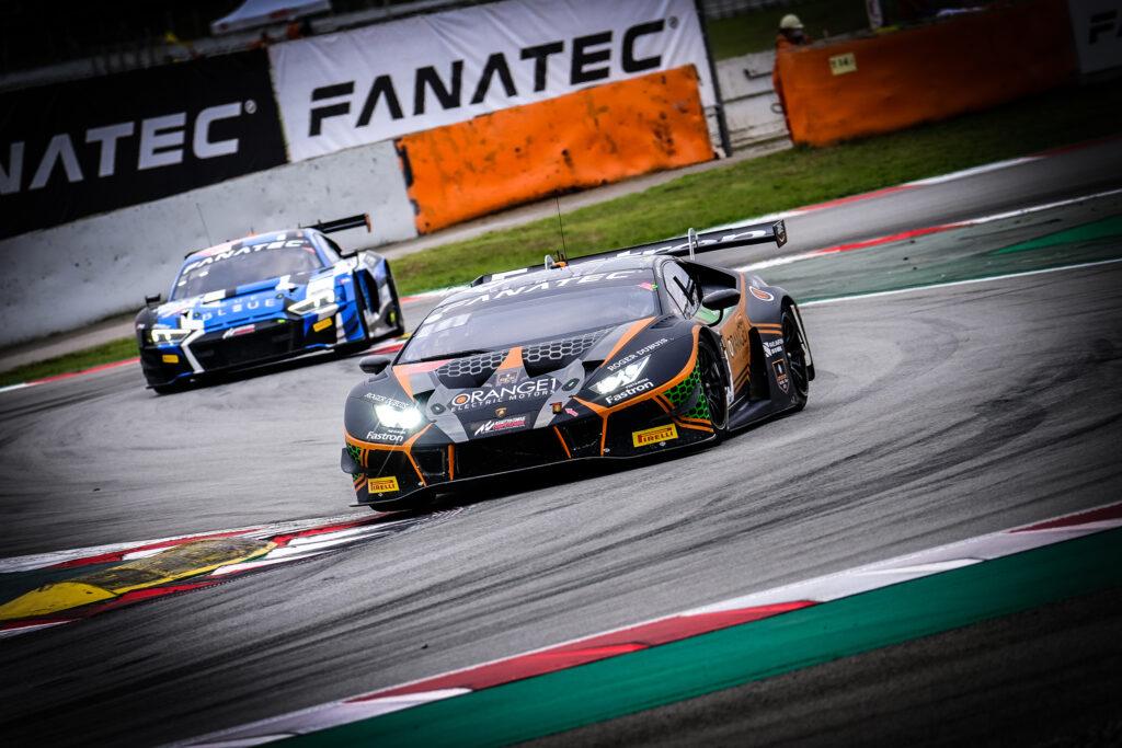 Mirko Bortolotti Marco Mapelli Andrea Caldarelli Orange 1 FFF Racing Team Lamborghini Huracan GT3 GT World Challenge Europe Endurance Cup Barcelona