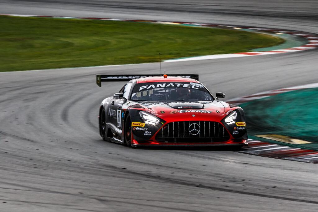Simon Gachet Konstantin Tereschenko Thomas Drouet AKKA ASP Mercedes-AMG GT3 GT World Challenge Europe Barcelona