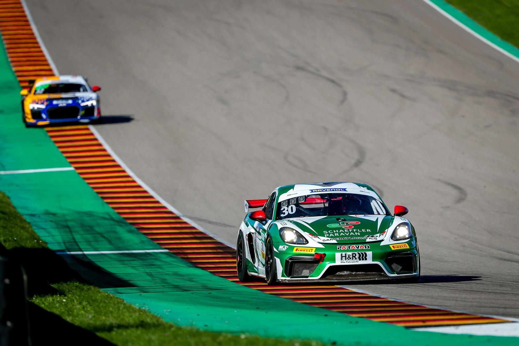 Max Kronberg Tim Heinemann W&S Motorsport Porsche 718 Cayman GT4 Clubsport MR ADAC GT Masters Sachsenring