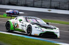 Frank Gannett Ian Lacy Drew Staveley Ian Lacy Racing Aston Martin Vantage GT3 Intercontinental GT Challenge Indianapolis